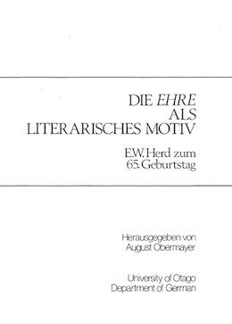 Die Ehre als literaisches Motiv